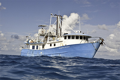 Our boat, the MV Dolphin Dream